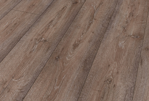 Pavimento in laminato - D 07 ROVERE MARRONE PALUDE - Plancia lunga mm 2400 largh cm 24 spessore mm 10