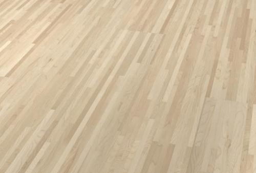parquet prefinito multistrip industriale - Acero Canadese bianco crema