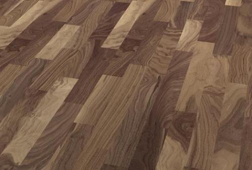 3 Strip Floor bilanciato - Walnut american carmine brown