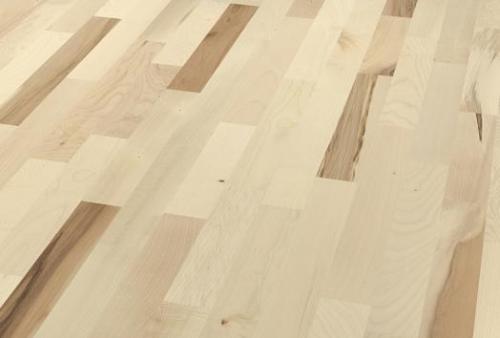 parquet prefinito 3 strip - acero europeo bianco sabbia