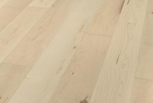 parquet prefinito plancia unica - Acero Canadese bianco crema