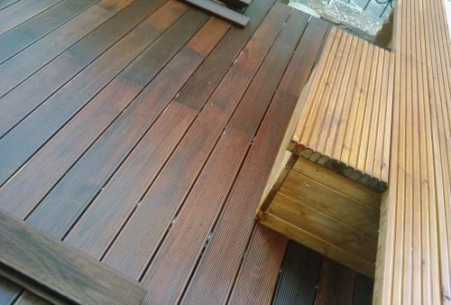 frassino termotrattato - legno per esterni DECKING a doghe - pavimento in legno esterno in frassino termotrattato