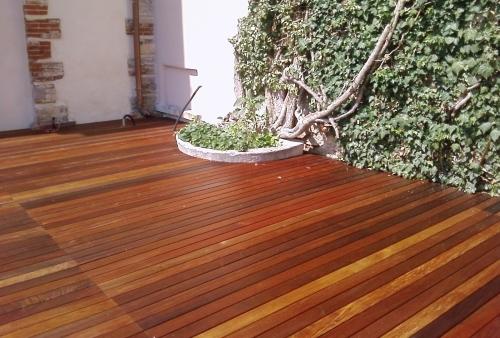 legno per esterni DECKING essenza Ipé oliato - pedana esterna - Pavimento in legno esterno in Ipé