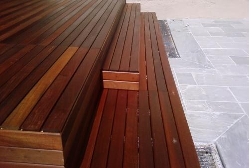 legno per esterni DECKING essenza Ipé oliato - gradini - Pavimento in legno esterno in Ipé rivestimento gradini