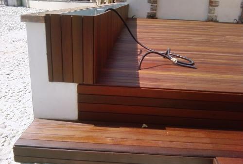 legno per esterni DECKING essenza Ipé oliato - gradini - Pavimento in legno esterno in Ipé