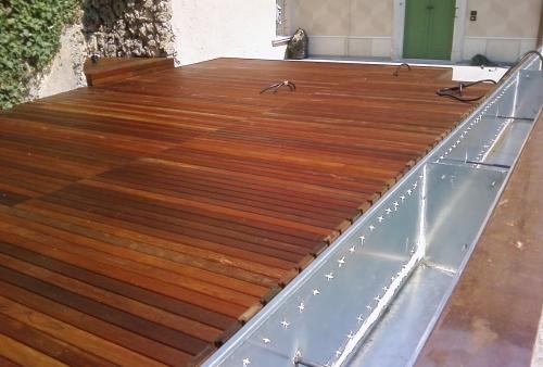 legno per esterni DECKING essenza Ipé oliato a doghe - Pavimento in legno esterno in Ipé