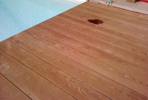 Ipé spessore mm 40 - pavimento DECKING a bordo piscina - Pavimento in legno esterno Ipè - bordo piscina - larghezze miste