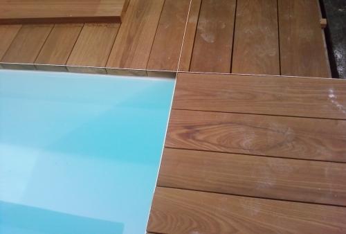 Ipé spessore mm 40 - pavimento DECKING a bordo piscina - Pavimento in legno esterno in Ipé
