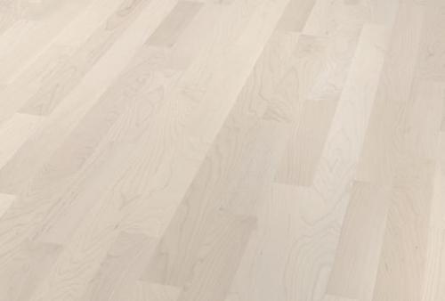 parquet prefinito 3 strip - acero canadese bianco artico