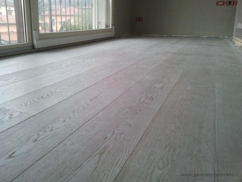 pavimenti in legno rovere sbiancato spazzolato design