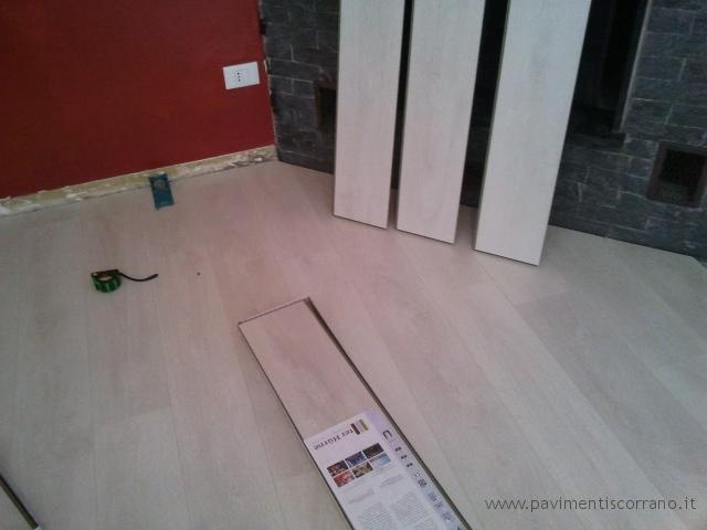 Realizzazioni pavimenti in laminato for Laminato bianco bricoman