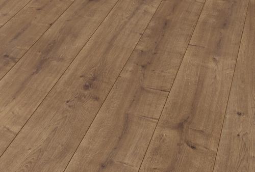 Pavimento in laminato Cl AC4/32 spessore mm 8 - Rovere marrone cannella 1334
