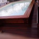 pavimento in legno esterno in frassino termotrattato - effetto bagnato