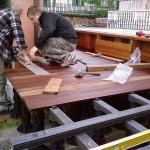 pavimento in legno esterno in frassino termotrattato