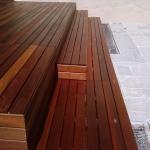 Pavimento in legno esterno in Ipé rivestimento gradini
